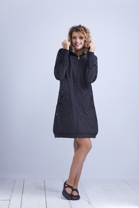 Coat Softshell Black and Color Combination