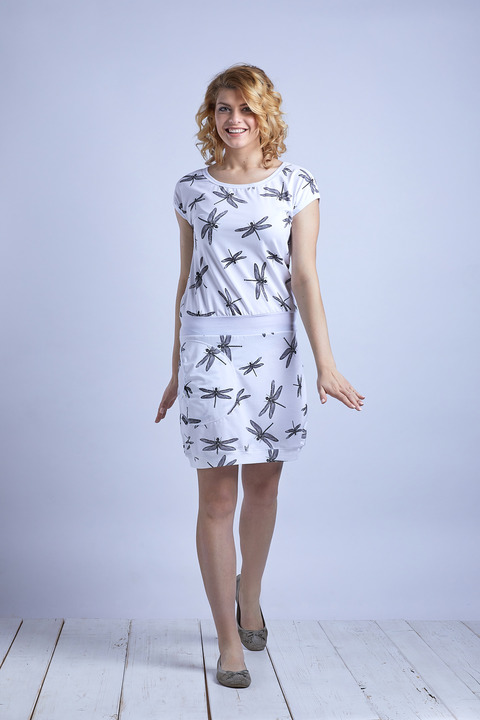 Dress White/Black Dragonfly