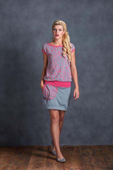 Tucked Piktogram Grey and Pink