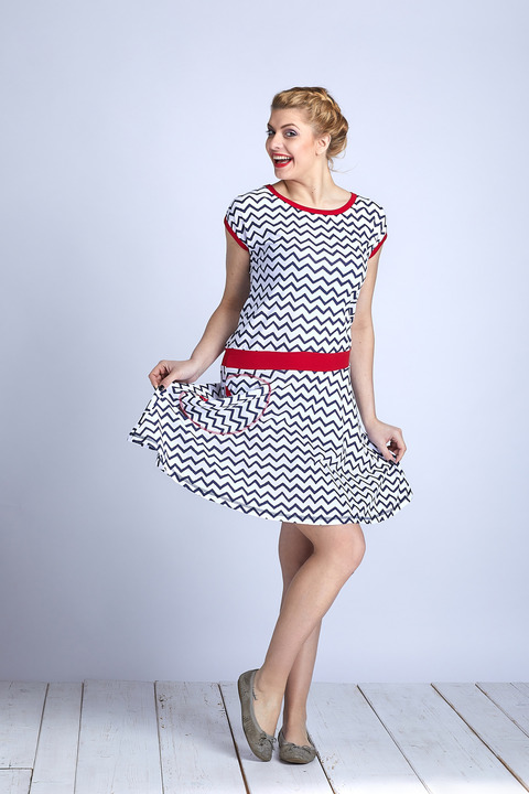 Dress Wheeled Cik Cak and Red