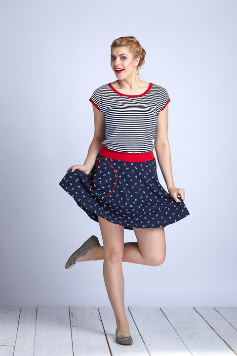 Dress Wheeled Sailor and Red