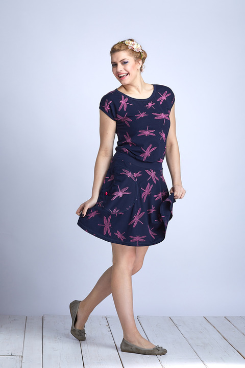 Dress Wheeled Blue/ Pink Dragonfly