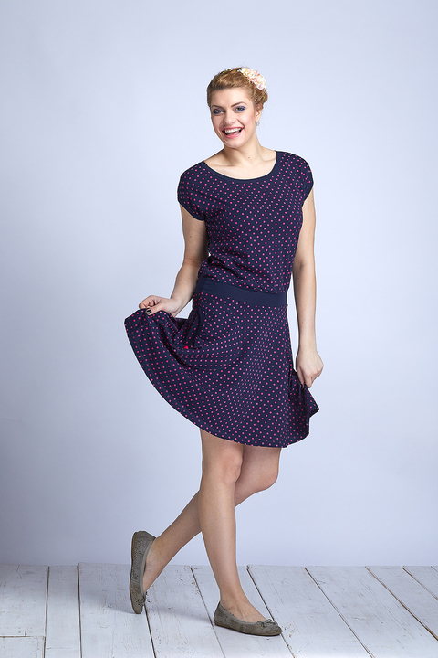 Dress Wheeled Blue/Pink Dots