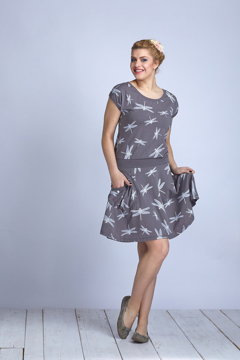 Dress Wheeled Gray/White Dragonfly